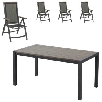 ᐅᐅ】Gartenmöbel-Set Antonia (87,7x158, 4 Stühle) - große Auswahl ...