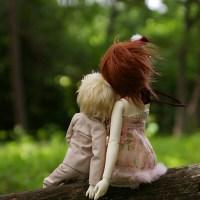 お気に入りの写真・森の2人 MSDF-06少年+SDF-16少女