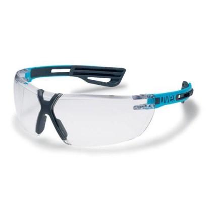 Uvex X-fit Pro Schutzbrille Klar Blauer Bügel 2