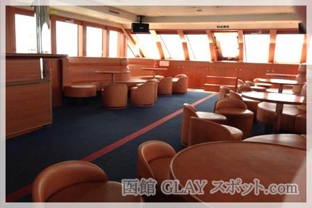 観光遊覧船ブルームーン HISASHI サイン メッセージ GLAY 記帳ノート Gスポット クルージング 船内 様子 写真 画像