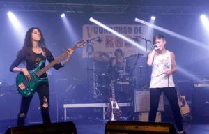 Patricia con La Senda de Afra en la final del concurso Noroeste Pop – Rock (2013)