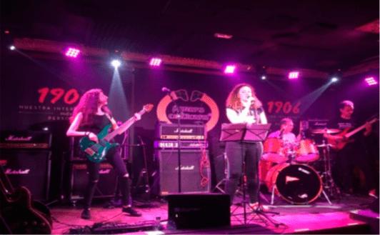Patricia actuando en la Rock Jam en el Forum Celticum de A Coruña