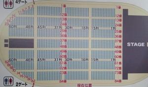 アリーナ 列番表記 通し番号座席表