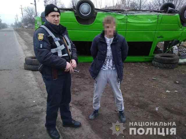 5 лет тюрьмы получил парень, который угнал в Одесской области маршрутку и перевернулся на крышу