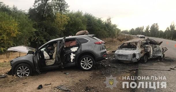 В ДТП на Запорожье два человека погибли в горящем автомобиле