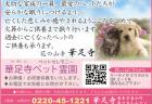 【360°】ペットセレモニー華足寺ペット霊園【登米市東和町】大切な家族の一員、最愛のペットたちが安らかな眠りにつけるよう・・・