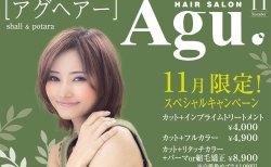Agu hair shall  アグヘアー登米市佐沼店|11月限定クーポン★special price!!上手に使って綺麗になろう!当日予約OK!