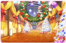 クリスマスの商店街