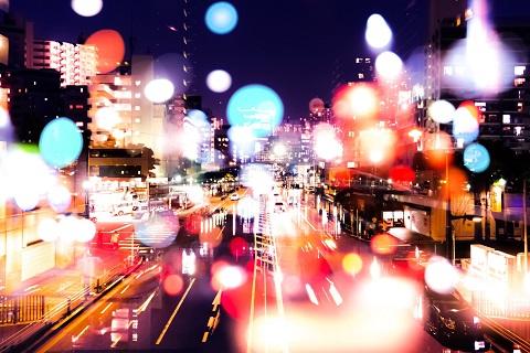 楽しい夜の街並み