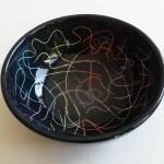 Keramik-Schüssel gekratzt