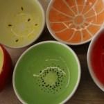 Keramik-Schüsseln-Obst
