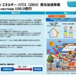 「28年度第2次補正予算案」成立。ZEH補助金総額で100億円!