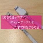【知らなきゃマズイ】iPhoneケーブルをバネで補強する方法