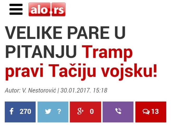 Владимир Петровић: Трампе бандиту као одраз наше политичке незрелости