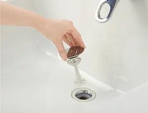 エポックの洗面台はお手入れが簡単!掃除が楽ちんな排水栓