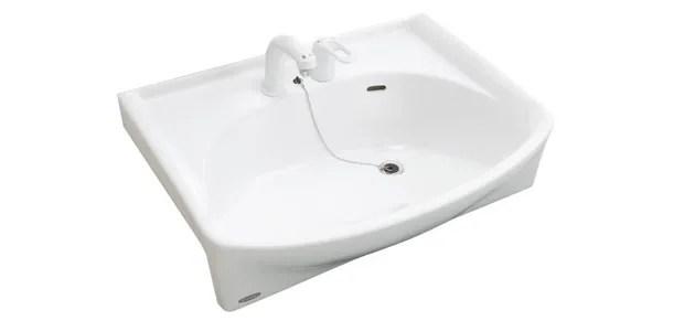 拭きやすく汚れがつきにくい大型陶器洗面ボウル
