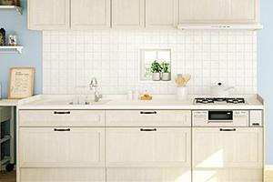 5.キッチンの壁には素焼きタイル等を用いて北欧風の内装にしよう!