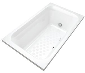 少ない水量でゆったり使える浴槽「コンフォート浴槽リーリエ」を採用