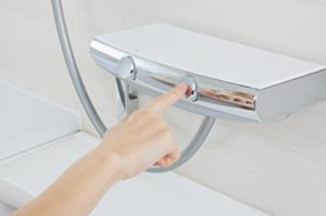 アライズの水栓はボタンを押すだけ!「プッシュ水栓」