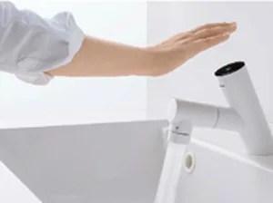 シーラインはタッチレス水栓だから蛇口が汚れない!