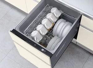 汚れ具合をセンサーで感知する「省エネナビ」の食洗機