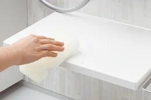 「スゴピカカウンター」「スゴピカ水栓」は汚れにくい有機ガラス系新素材