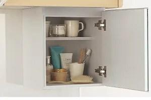 コルティは吊戸棚の下にも嬉しい収納が!洗面台の代わりにもなるコンパクトボックス