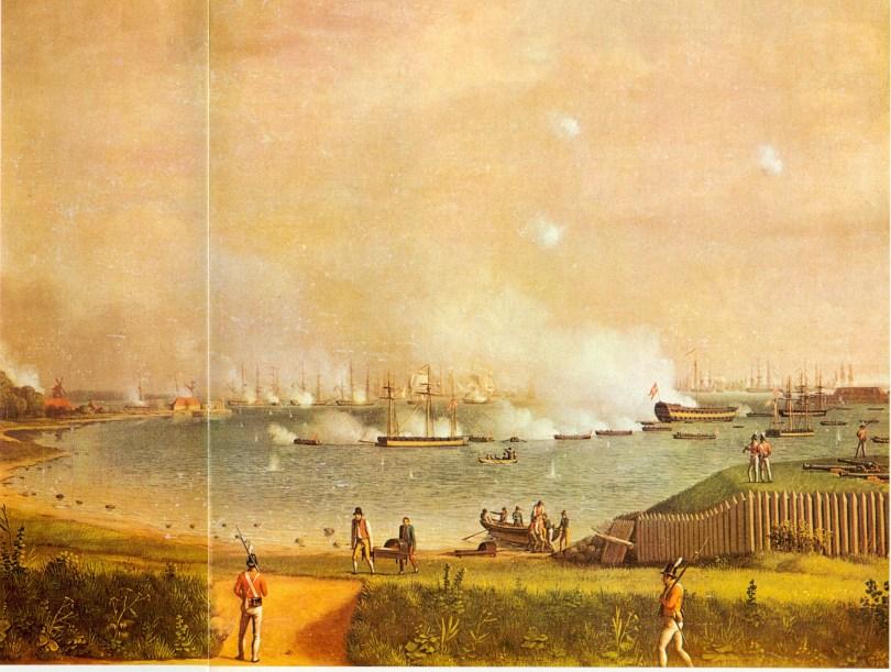 søndagsslaget i 1807 i Svanemøllebugten