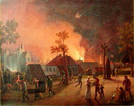 københavns bombardement set fra østre vold
