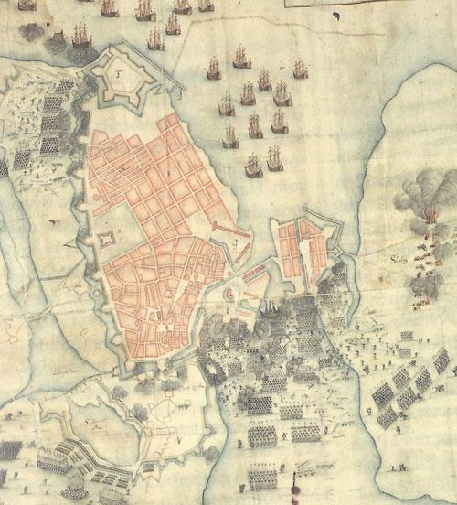 stormen på København tegning fra 1670'erne