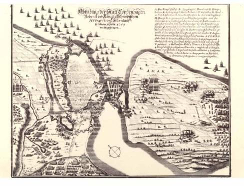 Vartov skanse på Trianglen i 1659