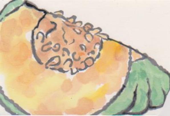 かぼちゃの絵手紙10