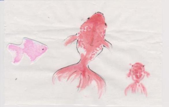 金魚の絵4