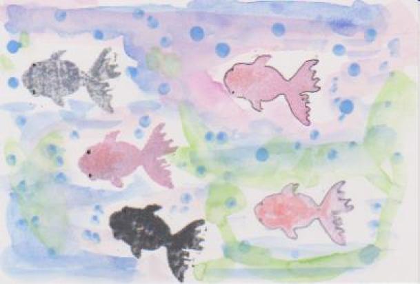 金魚の絵7