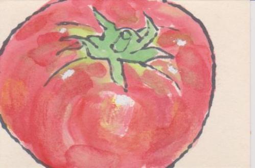 トマトの絵ー5