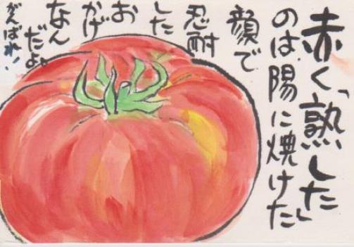 トマトの絵ー16
