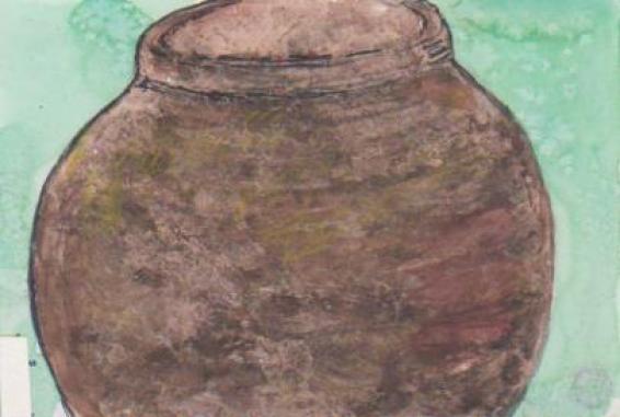 壷の絵手紙