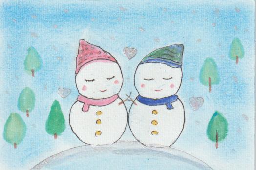 雪だるまの絵