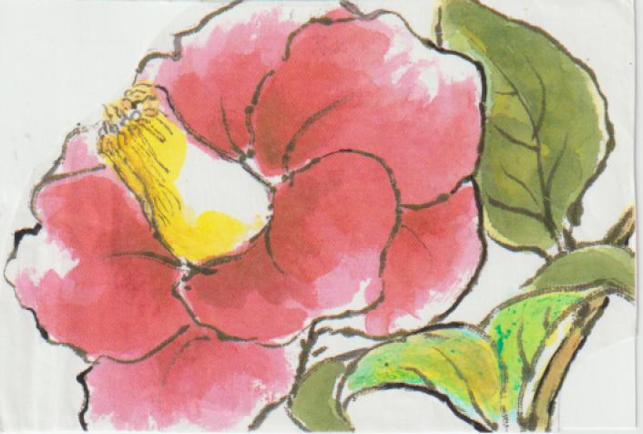 椿の絵の書き方例ー6