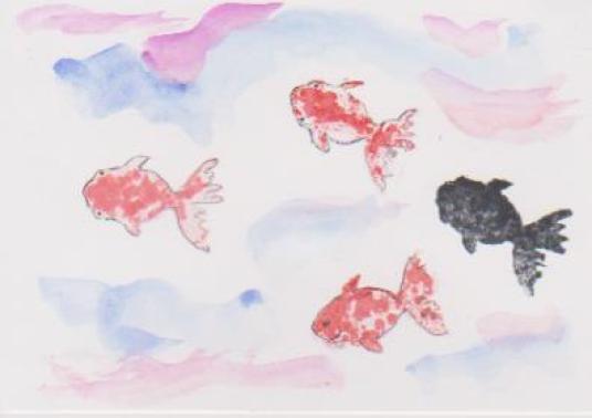 金魚の絵5