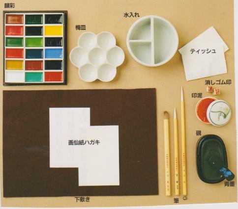 絵手紙道具のセット