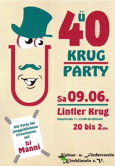 Plakt Ü40 Krug-Party