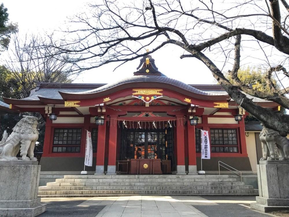 東京都品川区の旗岡八幡神社の祈年祭(甘酒祭)