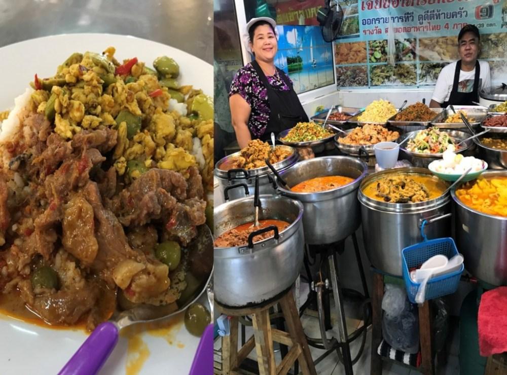 タイ王国バンコクのオートーコー市場での朝食