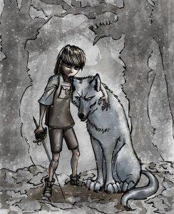 Arya Stark y Nymeria