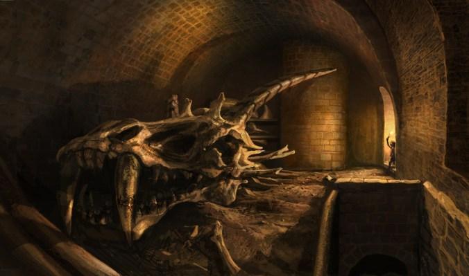 Arya Desembarco del Rey, calaveras dragones