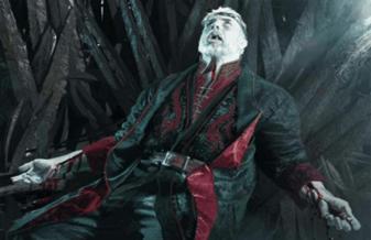 Ilustración de Maegor I el Cruel Targaryen por Michael Kormack