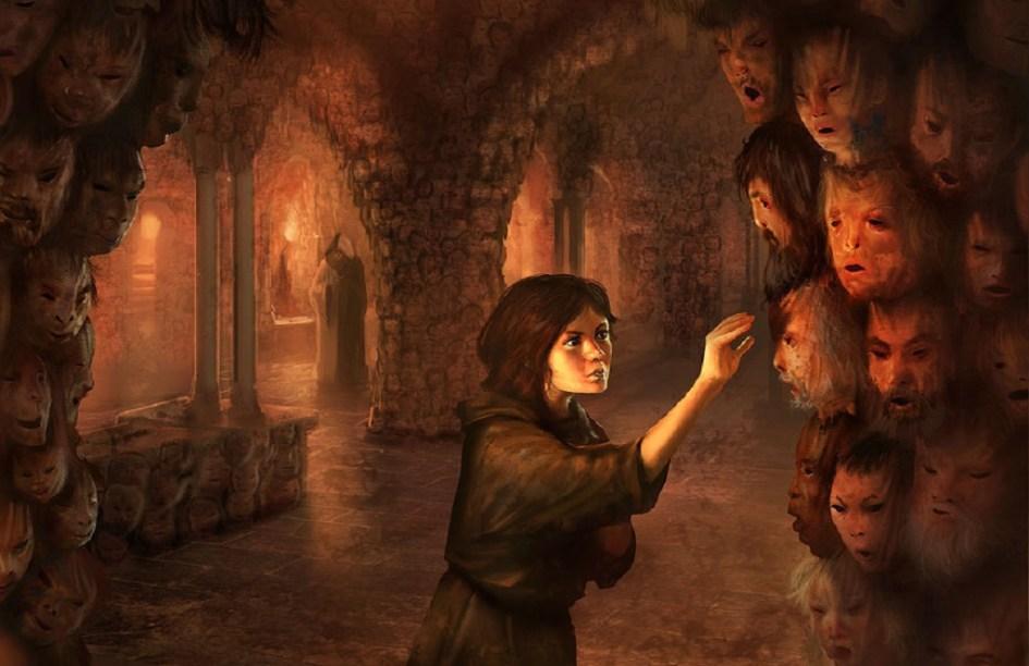 Arya Stark en el Salón de las Caras de los Hombres sin Rostro
