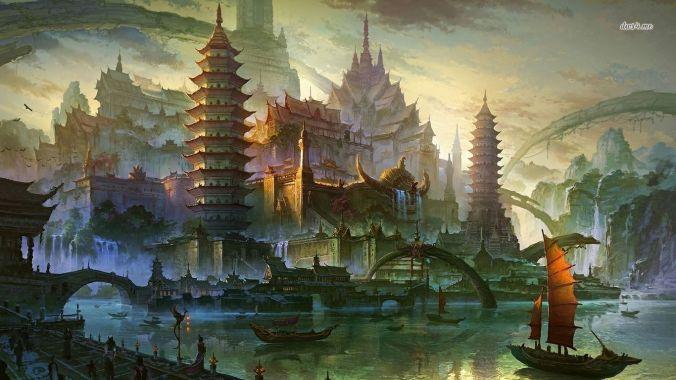 Ilustración de la ciudad de Yi Ti