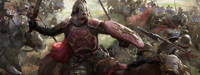 Soldado Lannister luchando en el campo de batalla
